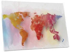"Pingo World 0720QY9F1H4 ""Pixelated World Abstract"" Gallery Wrapped Canvas Wall A - $54.40"