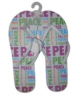 Womens Flip Flops Sandals White Sz 10 - $5.90