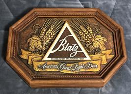 "Vintage 1970-80'S MILWAUKEE Blatz LIGHT Beer 22"" x 15"" PLASTIC Wall Sign - $29.69"