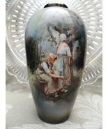 RS Suhl Antique Porcelain Salesman Sample Vase Pastoral Forest Figural W... - $600.00