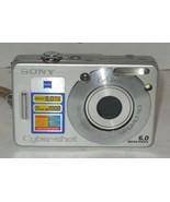 Sony Cyber-shot DSC-W50 6.0MP Digital Camera - Silver - $35.06