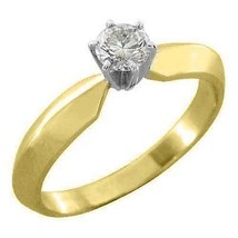1/2 CARAT WOMENS SOLITAIRE BRILLIANT ROUND DIAMOND ENGAGEMENT RING YELLO... - £949.60 GBP