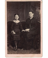 Late 1800s Cabinet Photo of Daughter & Mother Sitting -Avon, Illinois - $8.60