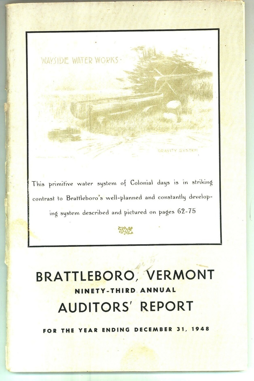 Brattleboro Vermont 1948 auditors' report vintage photos vintage ephemera