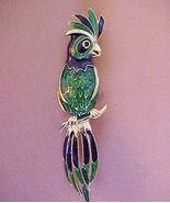 Vintage Parrot Cockatoo Enameled Pin Brooch num... - $12.00
