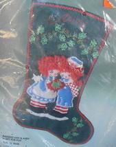 Bucilla Raggedy Ann & Andy A Gift for You Stocking Felt Stitchery Kit 1984* - $65.00