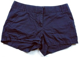 J Crew Women's Broken In Chino Shorts Size 2 Solid Blue 4 Pockets - $19.80