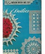 Doilies Lily Design Pattern Booklet No. 201 Vintage Crochet - $9.98