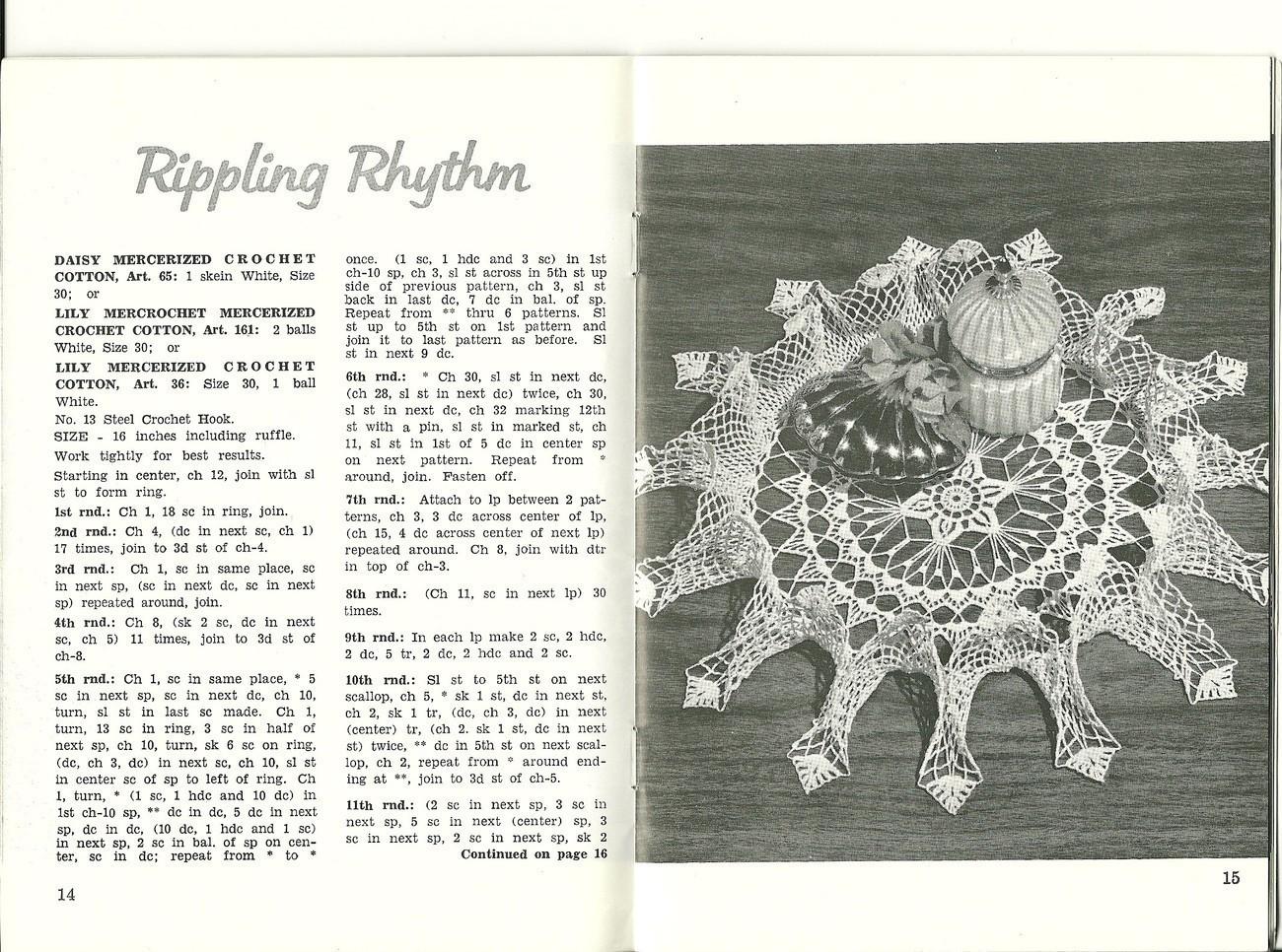 Doilies Lily Design Pattern Booklet No. 201 Vintage Crochet