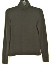 Ann Taylor sweater SZ S black turtleneck 100% cashmere long sleeve - $52.51 CAD