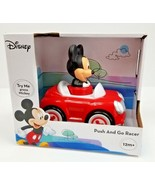 Disney NEW Mickey Mouse Push and Go Racer Car New In Box 12M - $14.85