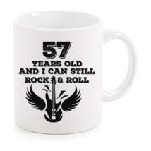 Rock And Roll Mug 57th Birthday Gifts Rock n Roll Mug Best Birthday Coffee Mugs - $14.95