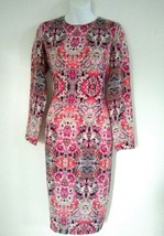 Maggy London Nordstrom Women's Floral Print Crepe Pink Midi Dress Size 8P - $51.43
