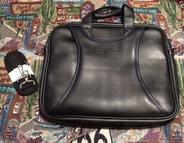 West 57th Street by Hilton Club Black Faux Leather? Padded Briefcase Car... - $112.70