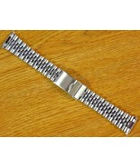 Jubilee Style Silve Tone 16mm-22mm Stainless Steel Metal Watch Bracelet ... - $19.00