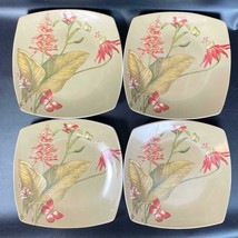 """(4) 222 Fifth PTS International Antigua 8"""" Floral Butterfly Salad Plates - $29.69"""