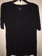 Liz Lange Small Womens Black Lace Inset Maternity Dress Sz S New - $12.49