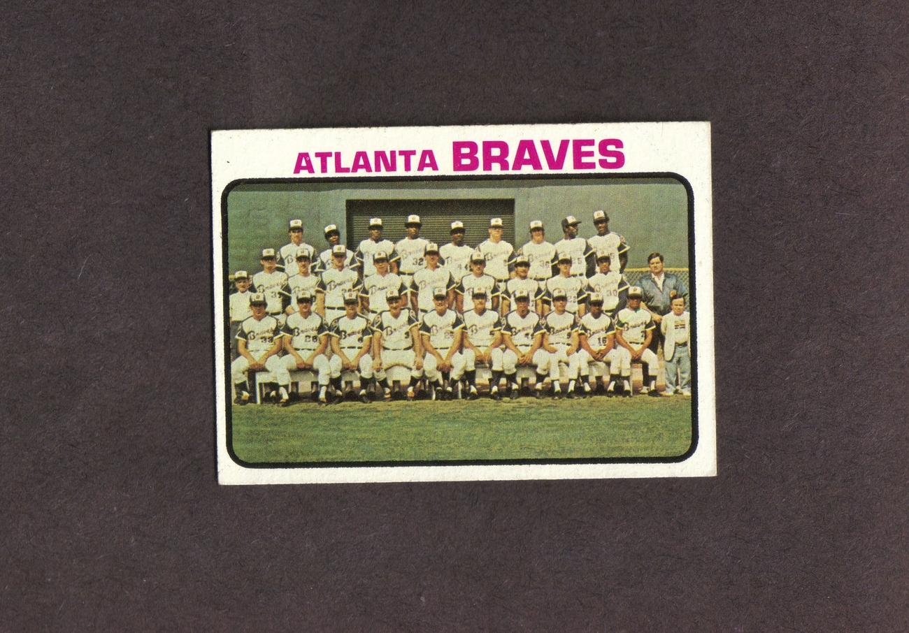 1973 Topps # 521 Atlanta Braves Team Card