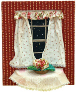 Night Time Window: Quilted Art Wall Hanging - $335.00
