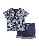 First Impressions Baby Boys 2-Pcs Blue Camo T-Shirt & Shorts Set, 24 Months - $18.00