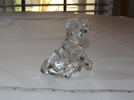 """Princess House Pets 24% Lead Crystal Clear """"Sitting Dog"""" Figurine Paperw... - $19.05"""