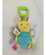 Taggies Bug Insect Rattle Plush Stroller Car Seat Clip On Toy Polka Dots... - $7.99