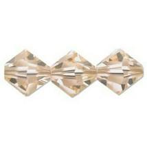 Swarovski Crystal Beads 5328 6MM Lt Peach Bicone (Pack Of 24) - $8.50