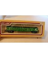 HO Scale Life-Like 50' Gondola, Burlington Northern, Green, #553557 BNOS - $17.82