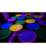 Blacklight Reactive 10.25 Inch Plastic Party Plates- 20 ct. - $9.50