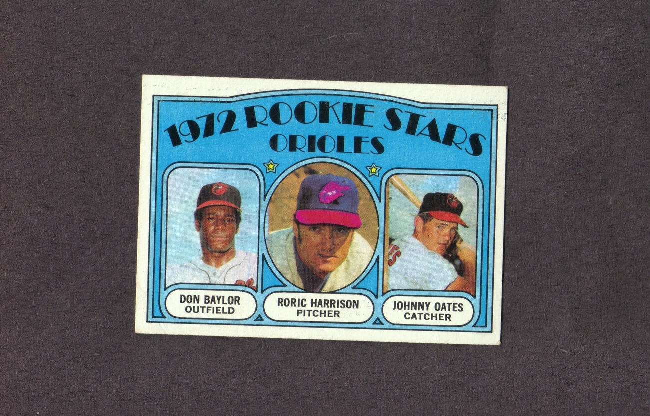 1972 Topps # 474 Don Baylor Johnny Oates Orioles Rookies
