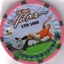 2010 World Soccer HILTON Las Vegas $5 Casino Chip, New - $10.95