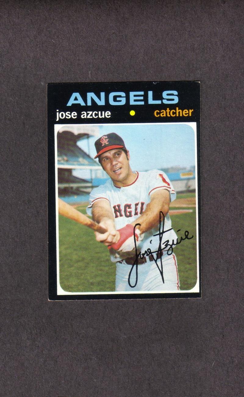 1971 Topps high # 657 Jose Azcue California Angels