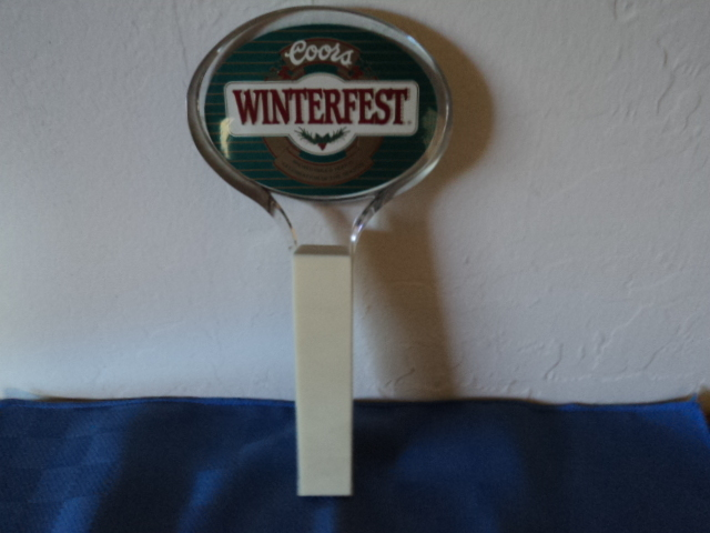 Coors Winterfest Lucite Acrylic Beer Tap