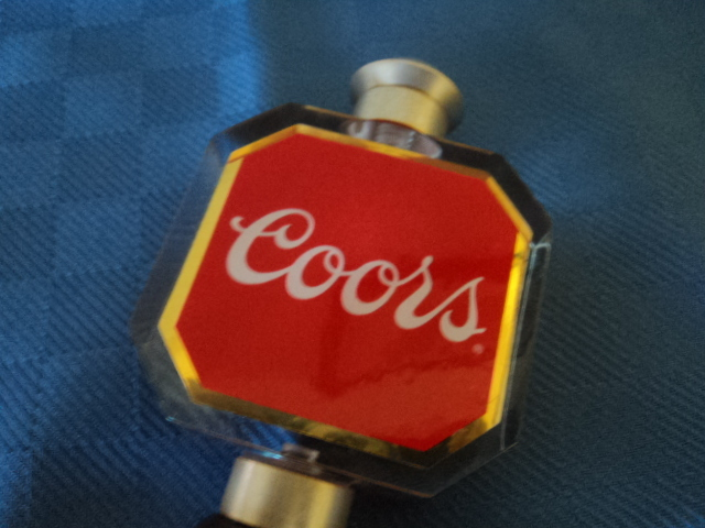 Coors Acrylic and Wood Beer Tap