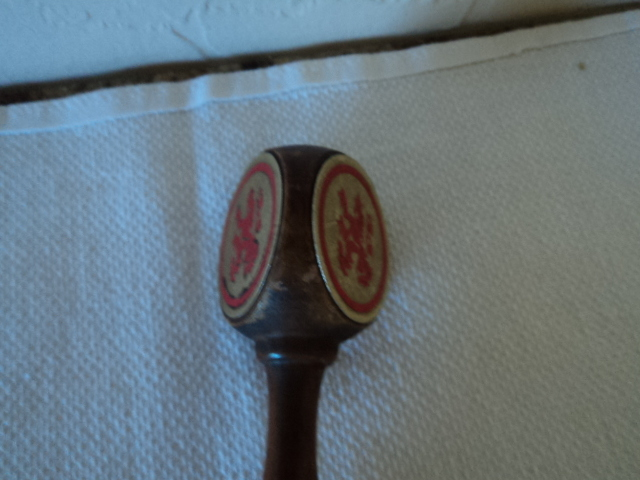 Coors Wood With Metal Plates Beer Tap