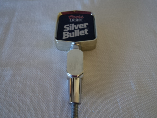 Coors Light Silver Bullet Silver and Blue Beer Tap