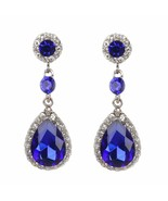 Sukkhi Cubic Zirconia Drop Earrings for Women (Silver) - $12.47