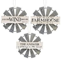 Farmhouse Windmill Hanging Wall Sign 3 Asstd. - $37.94