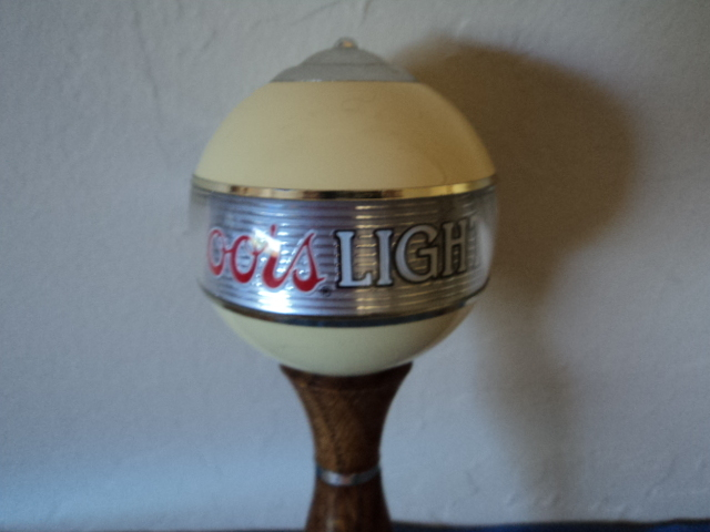 Coors Light Plastic and Wood Beer Tap
