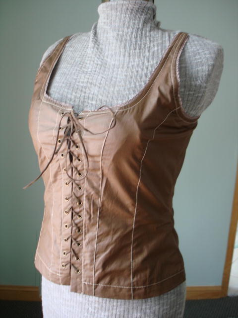 New-Renaissance Goth Fitted Corset Bodice,Tank top-New &Tag