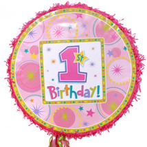 GIRLS 1st Birthday Pull String Pinata - $14.49
