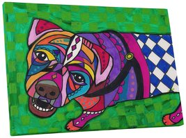 "Pingo World 0708QBM1ZGG ""Heather Galler Boxer Dog"" Gallery Wrapped Canvas Wall A - $43.51"