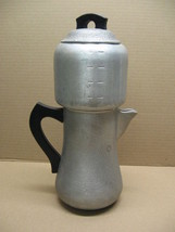 VINTAGE HAMMERED ALUMINUM CENTURY SILVER SEAL 8-CUP COFFEE POT DRIP - $39.95