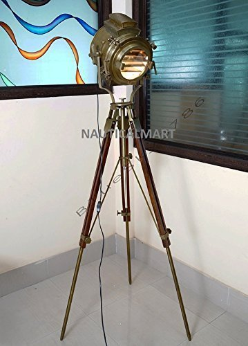 Primary image for  NauticalMart Large Vintage Theater Stage Spotlight Industrial Floor Lamp