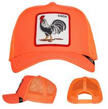 Goorin Bros Snapback Mesh Cap Orange Hot Tamale Rooster Trucker Hat 101-0691