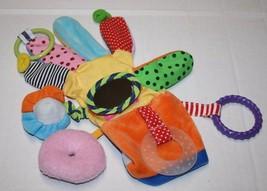 Baby Soft Toy Teething GLOVE Hand Puppet Plush Ring Mirror Workman Publi... - $11.32