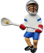 MALE LACROSSE ORNAMENT CHRISTMAS GIFT BOY  LACROSSE PLAYER - $12.16