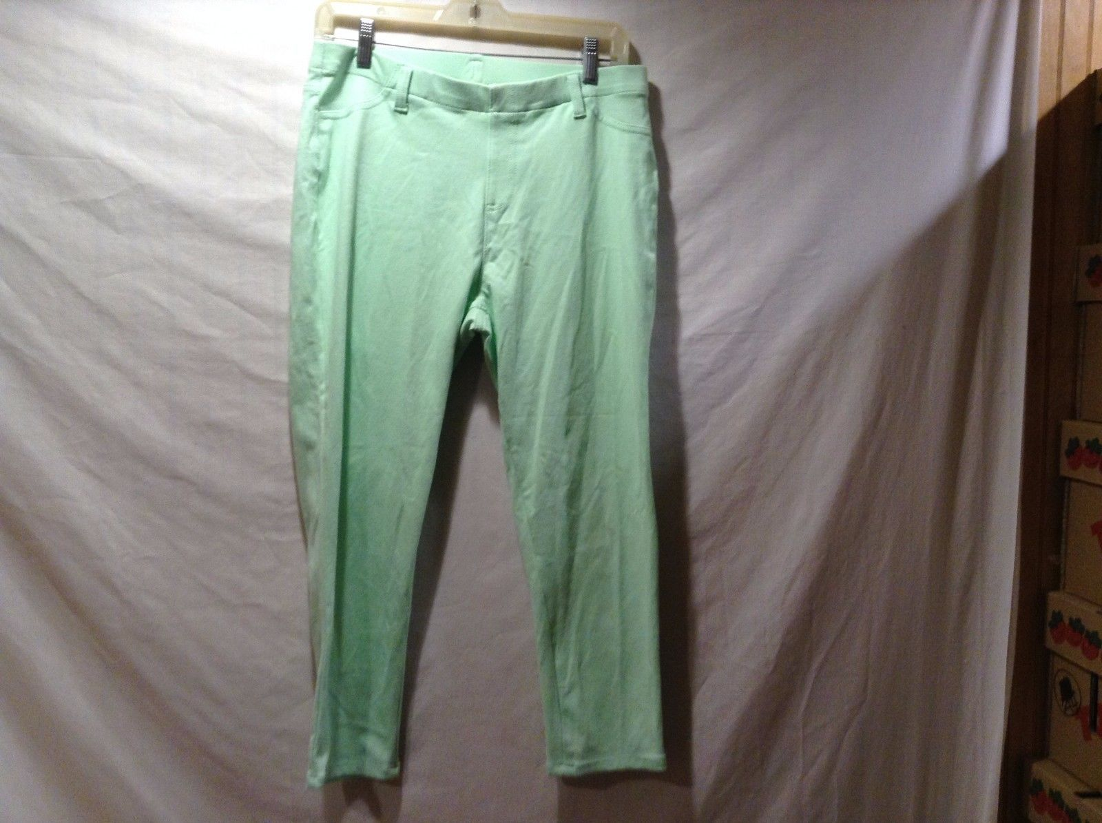 Faded Glory Light Lime Green Pants Sz LG 12/14