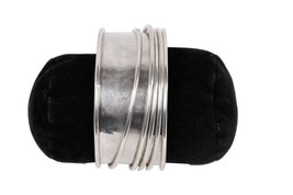 BATTISTONI Vintage Silver metal CUFF BRACELET Bangle - $193.05