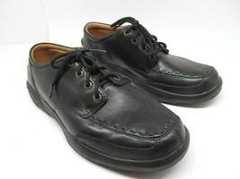 Dr Comfort Eric Mens Black Leather  Comfort Walking Shoes 8.5 W - $28.13
